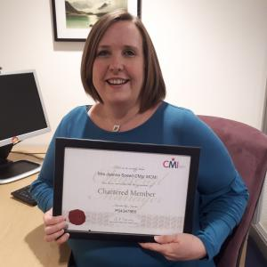 Chartered status for general manager, Jo Speed